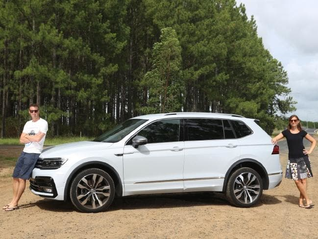 Stretch the friendship: Allspace puts Iain 215mm further from Jules than a regular Tiguan