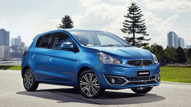 Cheap thrills: The Mitsubishi Mirage is the cheapest new car to operate in Australia.