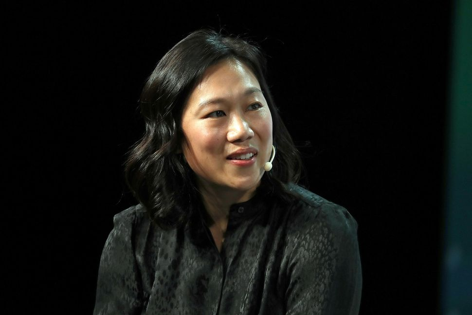Priscilla Chan at the TechCrunch Distrupt Conference in September 2018
